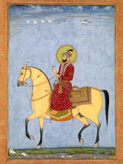 The Mughal Emperor Farrukhsiyar(1683-1719) (R.1713-19), from the Large Clive Album-Mughal-Giclee Print