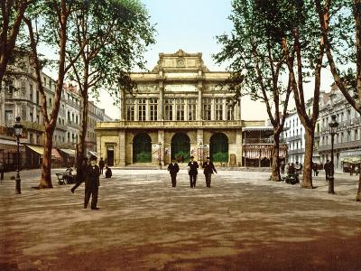 The Municipal Theatre at Béziers, France, 1890-1900--Photographic Print
