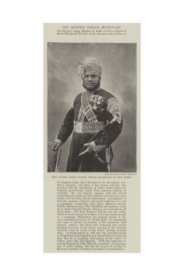 The Munshi Abdul Harim, Indian Secretary to the Queen--Giclee Print
