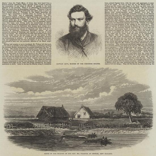 The Murder of a Missionary by the Maoris in New Zealand--Giclee Print