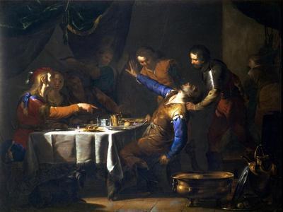 The Murder of Amnon by His Brother Absalom-Bernardo Cavallino-Giclee Print