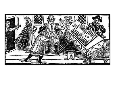 The Murder of Arden of Feversham, an Illustration from 'A Book of Roxburghe Ballads' (Woodcut)-English-Giclee Print