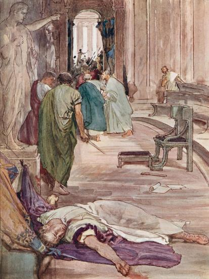 The Murder of Caesar-William Rainey-Giclee Print