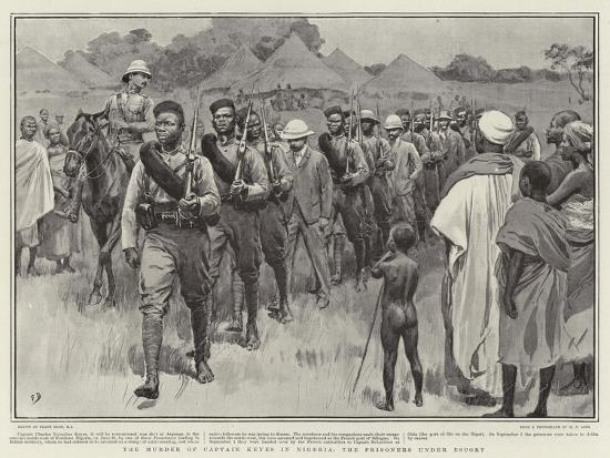 The Murder of Captain Keyes in Nigeria, the Prisoners under Escort-Frank Dadd-Giclee Print