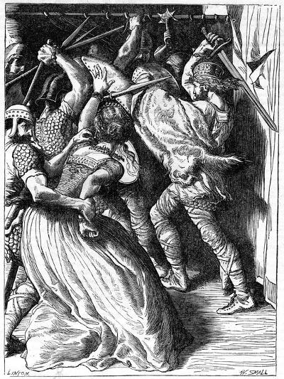 The Murder of Cenulph (D82), King of Mercia, 19th Century-W Small-Giclee Print