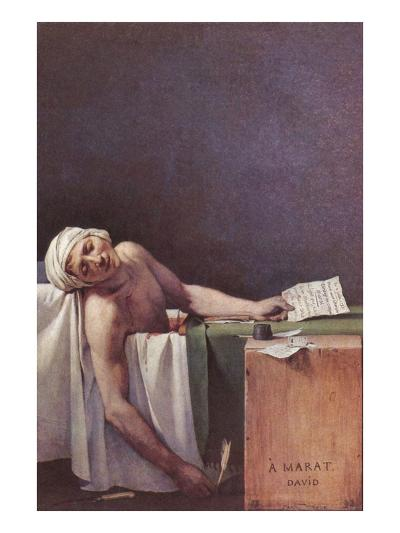The Murdered Marat-Jacques-Louis David-Art Print