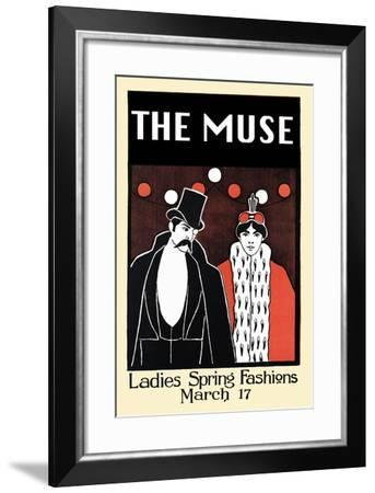 The Muse Journal, Ladies Spring Fashions, March 17-William McGregor Paxton-Framed Art Print