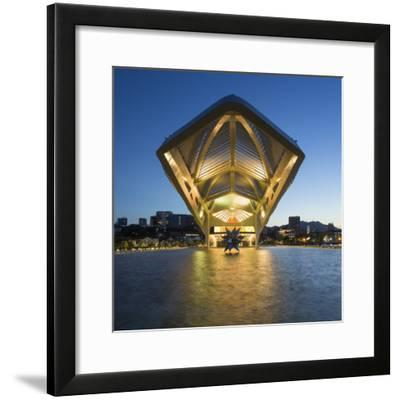 The Museu do Amanha (Museum of Tomorrow) by Santiago Calatrava opened December 2015, Rio de Janeiro-Gavin Hellier-Framed Photographic Print
