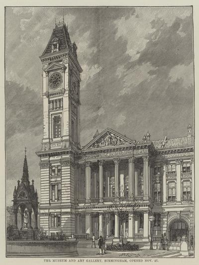 The Museum and Art Gallery, Birmingham, Opened 27 November--Giclee Print