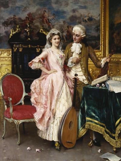 The Music Lesson-Federigo Andreotti-Giclee Print