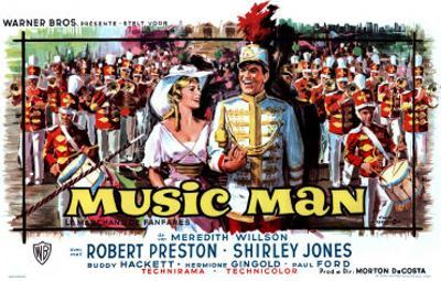 The Music Man, Belgian Movie Poster, 1962