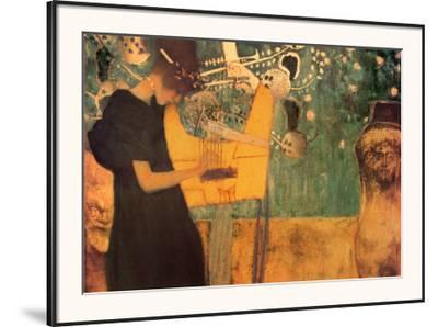 The Music-Gustav Klimt-Framed Art Print