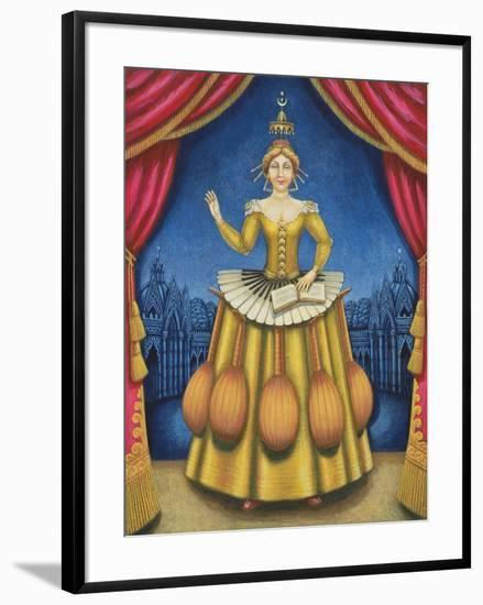 The Musician's Wife, 2002-Frances Broomfield-Framed Giclee Print