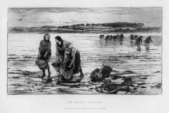 The Mussel Gatherers, C1890-Colin Hunter-Giclee Print