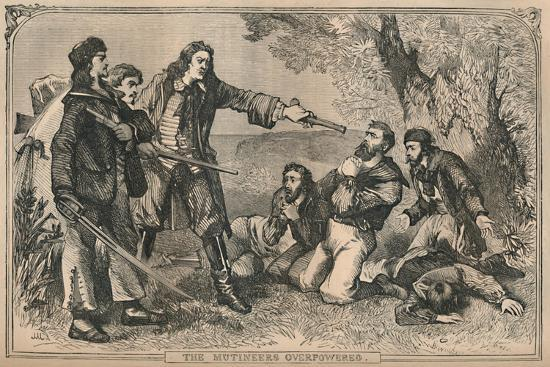 'The Mutineers Overpowered', c1870-Unknown-Giclee Print