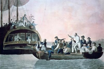 The Mutineers Turning Lieut Bligh...And Crew Adrift from His Majesty's Ship the Bounty, 1790-Robert Dodd-Giclee Print