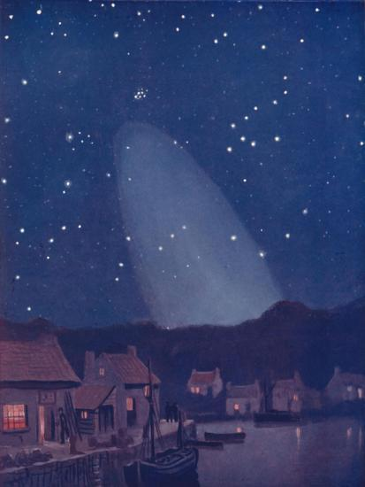 'The Mysterious Cone of the Light in the Sky', 1935-Unknown-Giclee Print