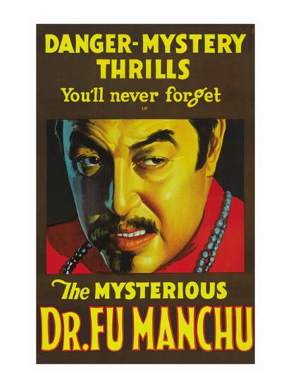 The Mysterious Dr. Fu Manchu--Art Print