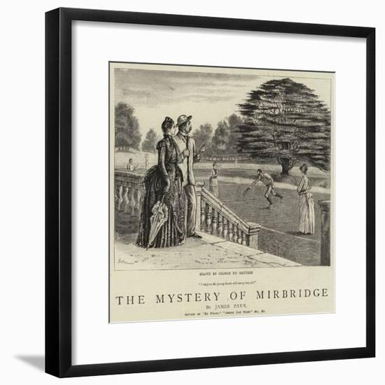 The Mystery of Mirbridge-George Du Maurier-Framed Giclee Print