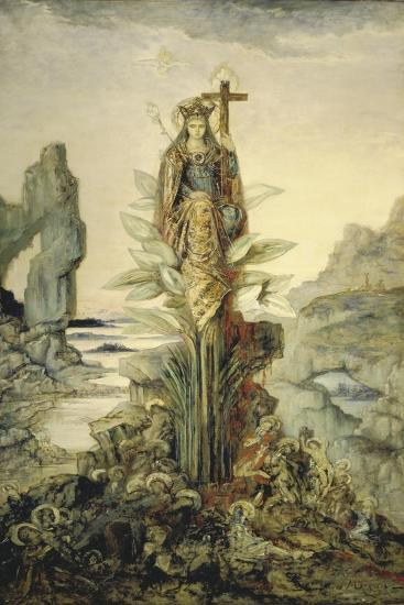 The Mystic Flower-Gustave Moreau-Giclee Print
