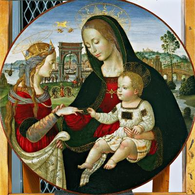 The Mystic Marriage of St. Catherine, 1502-03-Baldassarre Peruzzi-Giclee Print