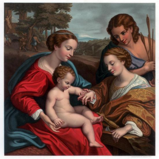 The Mystic Marriage of St Catherine, 1526-1527-Franz Kellerhoven-Giclee Print