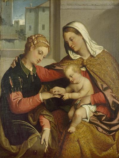 The Mystic Marriage of St. Catherine, 16th Century-Giovanni Battista Moroni-Giclee Print