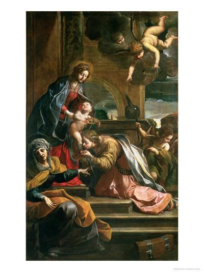 The Mystic Marriage of St. Catherine-Alessandro Tiarini-Giclee Print