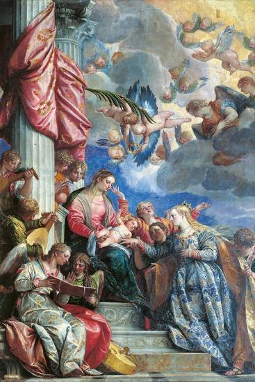 The Mystic Marriage of St Catherine-Veronese-Giclee Print