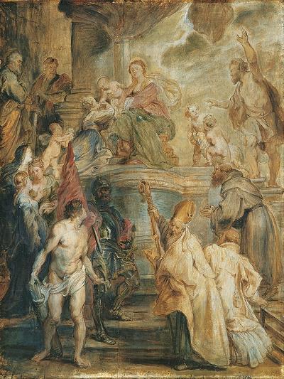 The Mystical Marriage of Saint Catherine-Peter Paul Rubens-Giclee Print