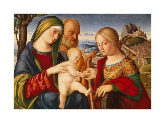The Mystical Marriage of Saint Catherine-Francesco di Bernardo de Vecchi Santacroce-Giclee Print