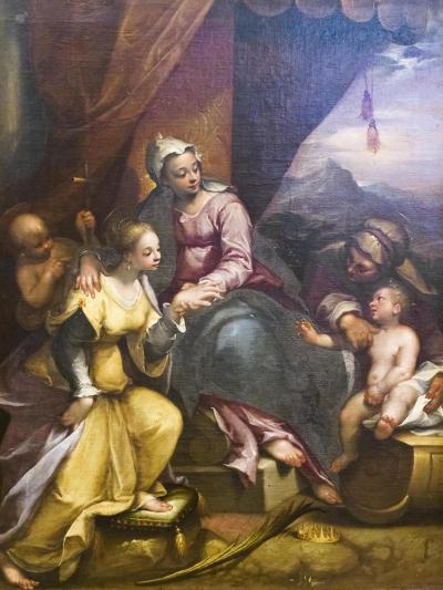 The Mystical Marriage of St Catherine, 1590-Denys Calvaert-Giclee Print
