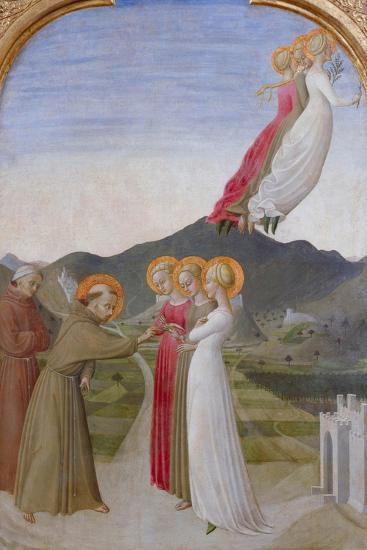 The Mystical Marriage of St. Francis of Assisi, 1444-Sassetta-Giclee Print
