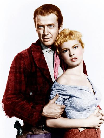 THE NAKED SPUR, from left: James Stewart, Janet Leigh, 1953--Photo