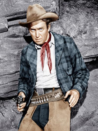 THE NAKED SPUR, James Stewart, 1953--Photo