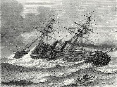 The 'Napoleon Iii' Transatlantic French Liner Launched in 1866--Giclee Print