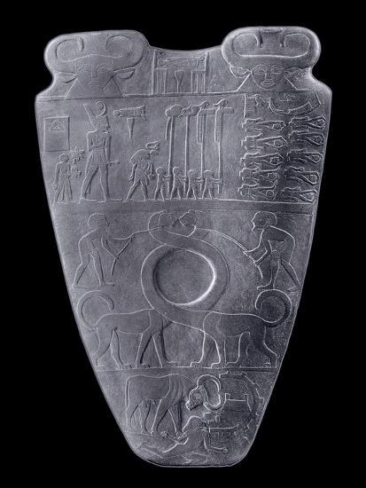 The Narmer Palette, Ancient Egyptian, c3100-2890 BC-Werner Forman-Giclee Print