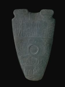 The Narmer Palette (Front), a Late Pre-Dynastic Schist Ceremonial Palette