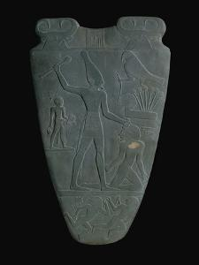 The Narmer Palette (Reverse), a Late Pre-Dynastic Schist Ceremonial Palette