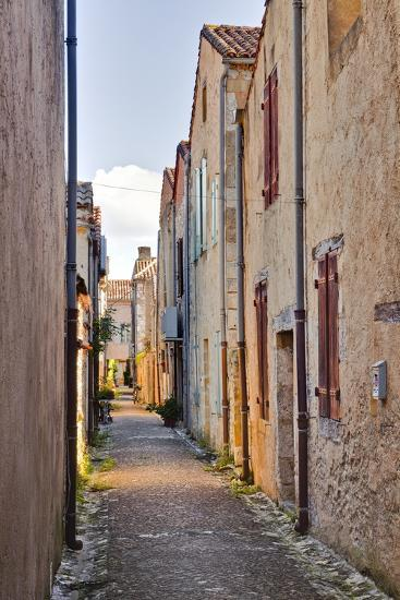 The Narrow Streets of Monpazier, One of the Beaux Villages De France, Dordogne, France, Europe-Julian Elliott-Photographic Print