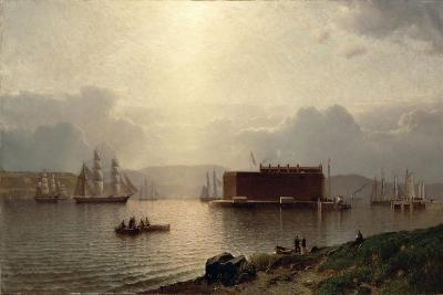 The Narrows and Fort Lafayette, Ships Coming into Port, New York Harbour, 1868-Samuel Coleman-Giclee Print