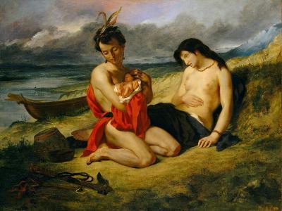 The Natchez, 1823–24 and 1835-Eugene Delacroix-Giclee Print