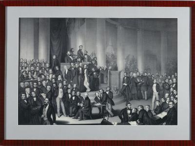 The National Assembly in Paulskirche, Frankfurt Am Main, Engraved by Eduard Meyer and Gerhard…-Paul Buerde-Giclee Print