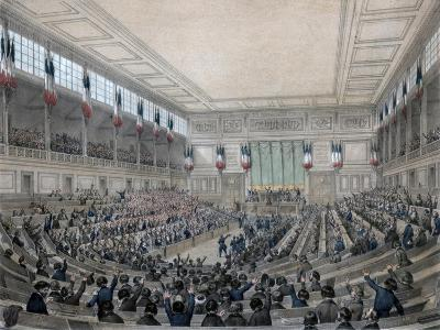 The National Assembly Is in Permanence!, Paris, 15 May 1848-Victor Adam-Giclee Print