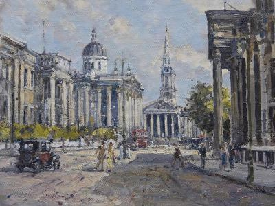 The National Gallery - Trafalgar Square in About 1920, 2008-John Sutton-Giclee Print