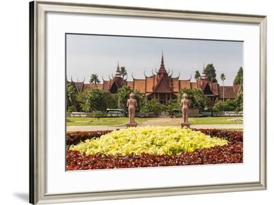 The National Museum of Cambodia in the Capital City of Phnom Penh, Cambodia, Indochina-Michael Nolan-Framed Photographic Print
