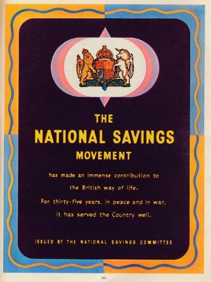 The National Savings Movement, 1951--Giclee Print