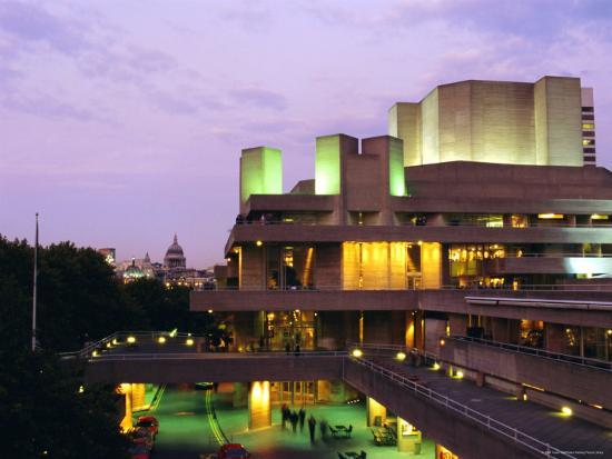 The National Theatre in the Evening, South Bank, London, England, UK-Fraser Hall-Photographic Print