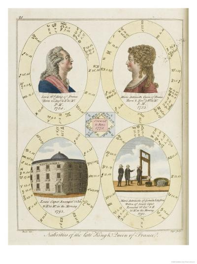 The Nativities of Louis XVI and Marie Antoinette Show Their Tragic Destiny- Dodd-Giclee Print