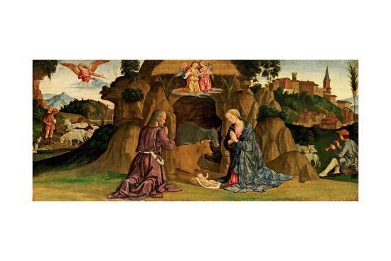 The Nativity, 1480s-Antoniazzo Romano-Giclee Print